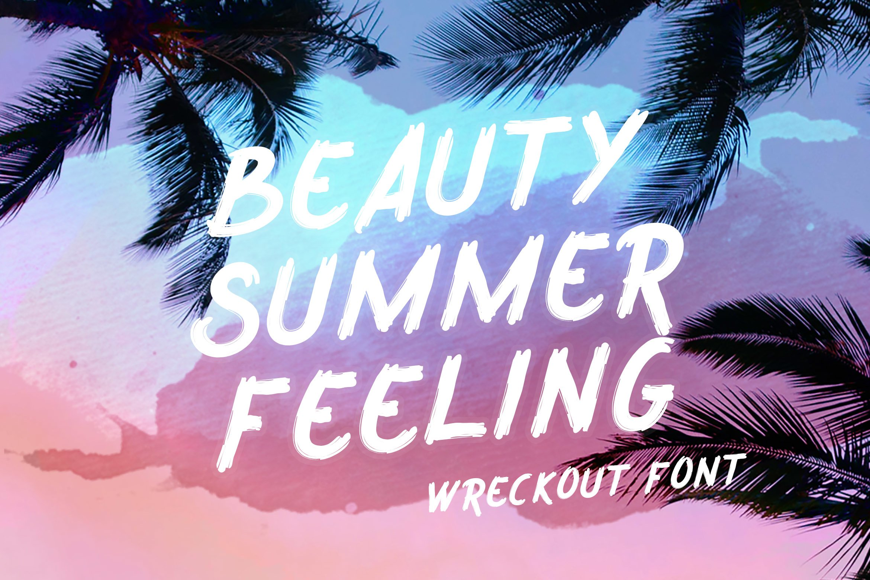 Wreckout - Decorative Brush Font example image 7