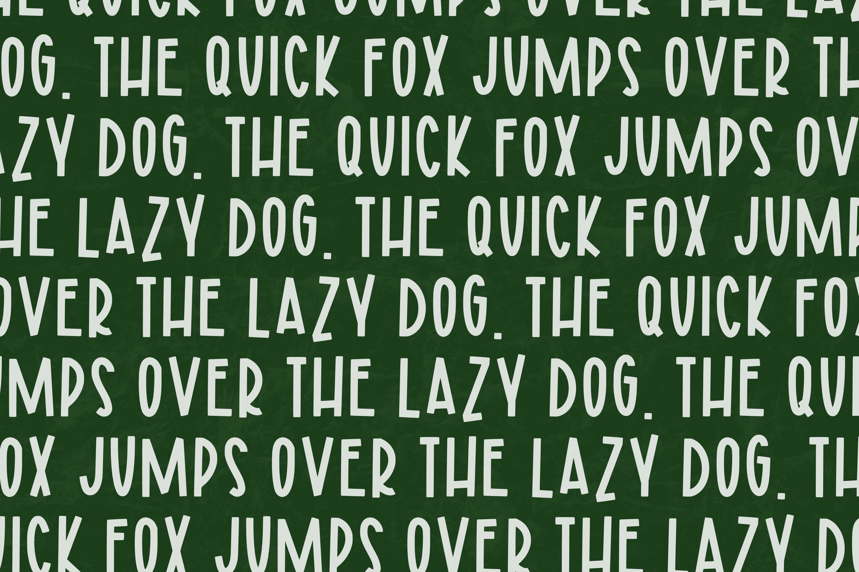 Evergreen Berries a Joyful Font example image 3