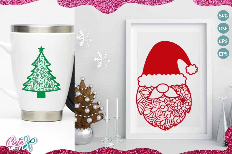 Christmas Mandala mini bundle SVG for crafters example image 3