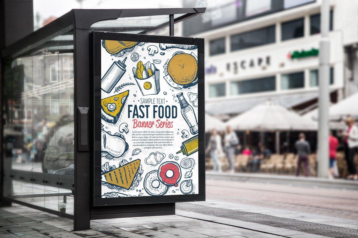 Fast Food Hand Draw Illustration Set example image 2