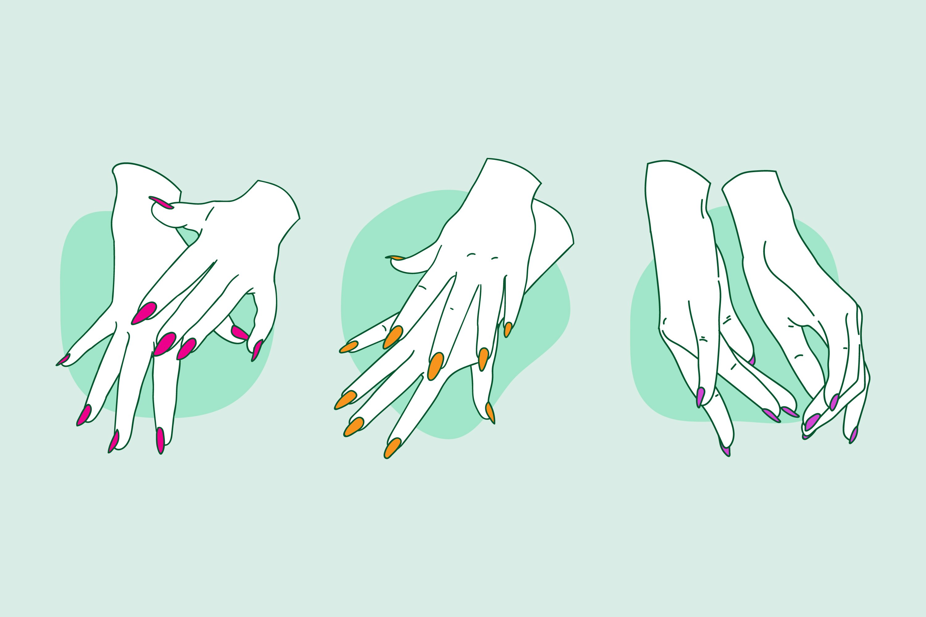 Collection of Drawn Manicure Hand example image 1