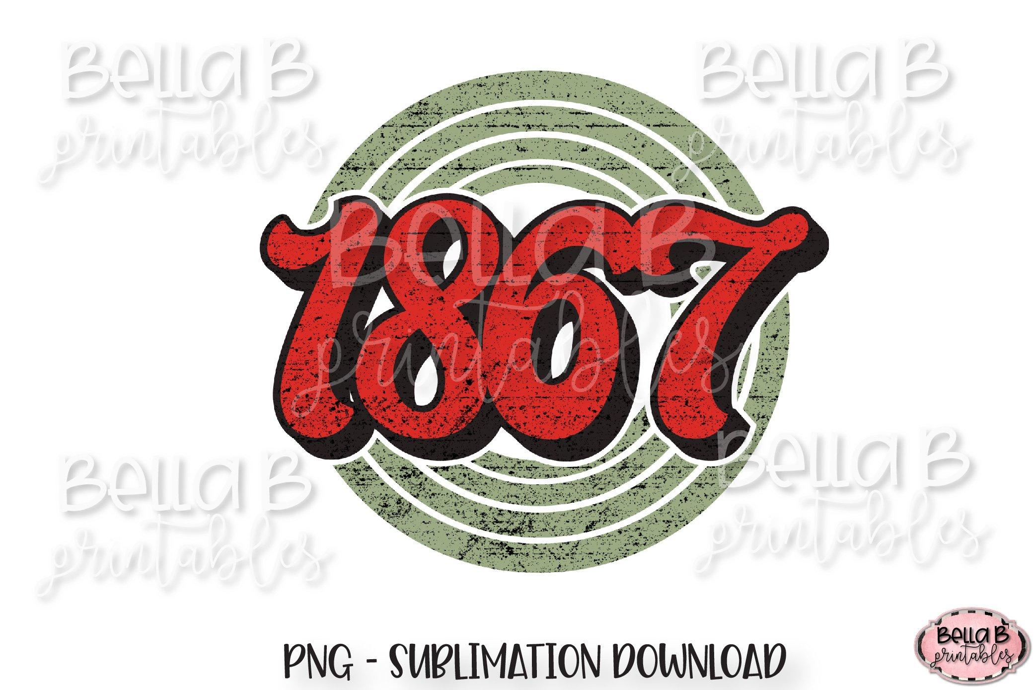 1867 Retro Canada Sublimation Design, Vintage example image 1