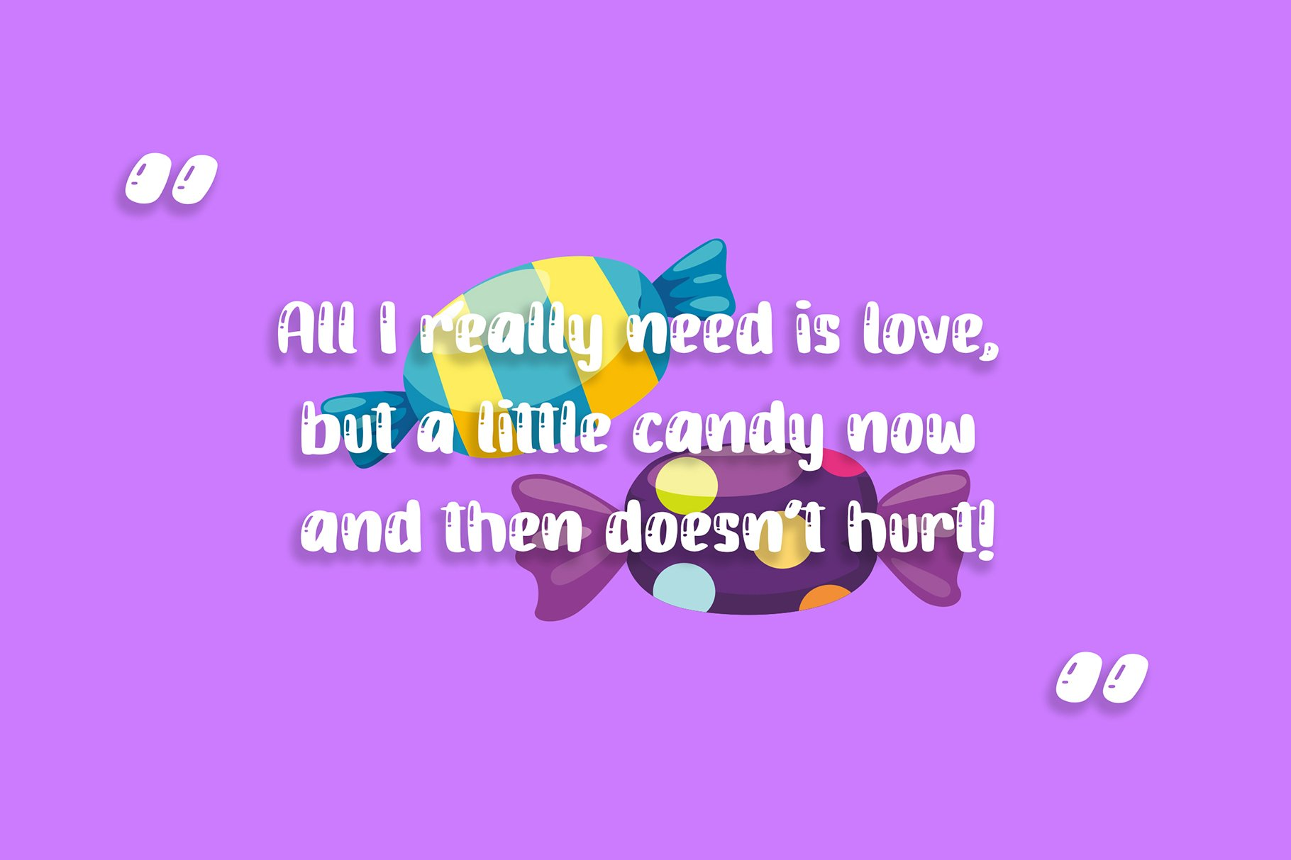 Candy Jelly Playful Display Font example image 5