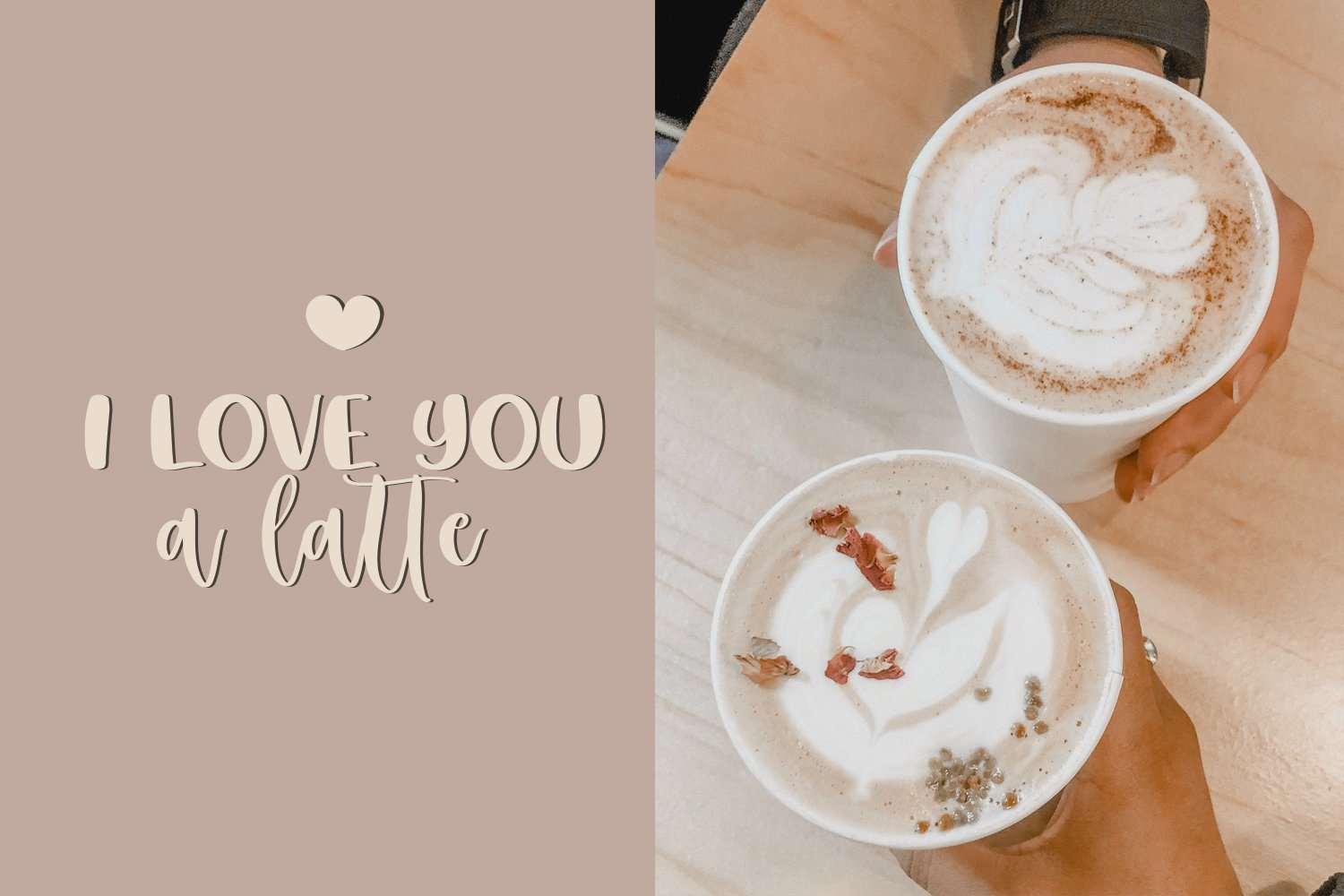 Soya Latte Font Duo example image 4