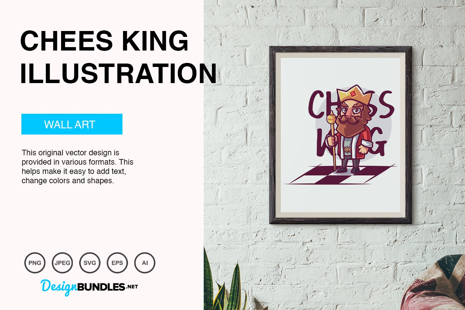 Chess King Vector Illustration example image 5