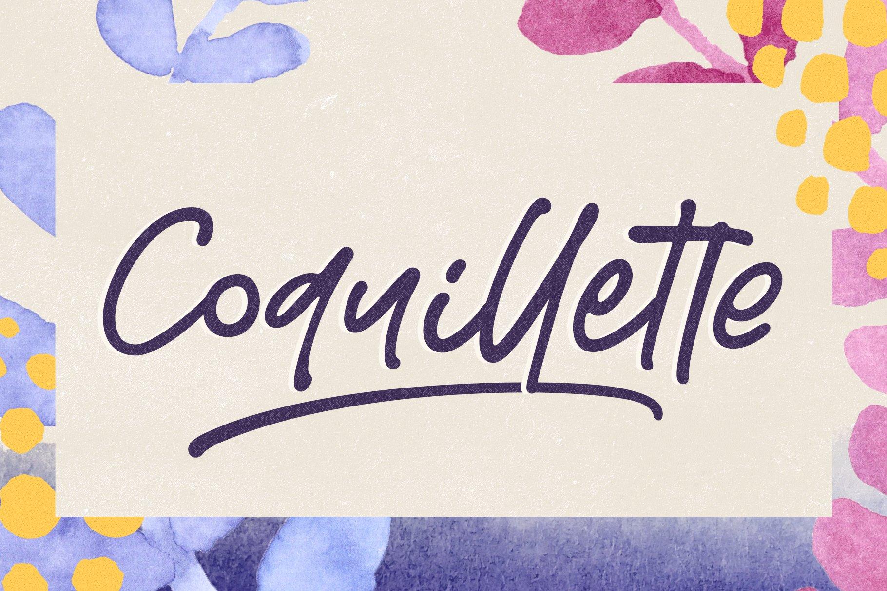 Coquillette | A Handwritten Script example image 1