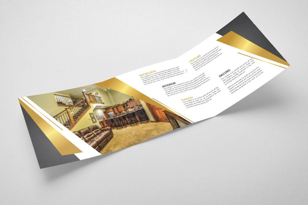 Luxury Hotel Square Trifold Brochure example image 4
