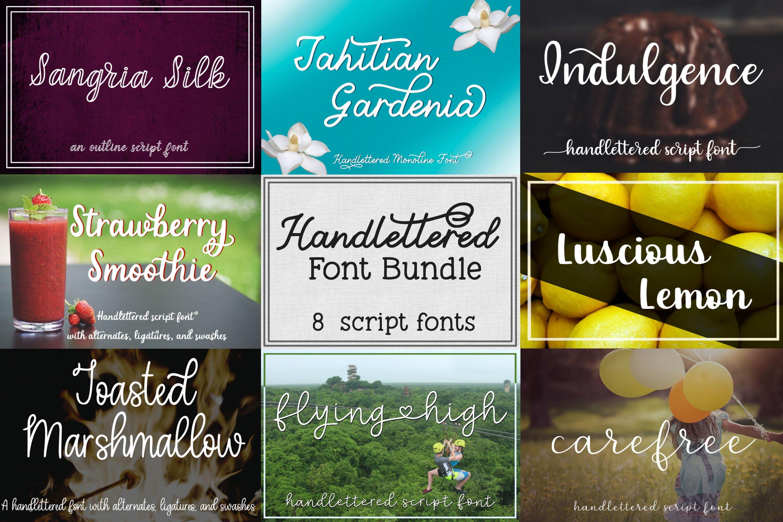Handlettered Font Bundle - 8 Script Fonts example image 1