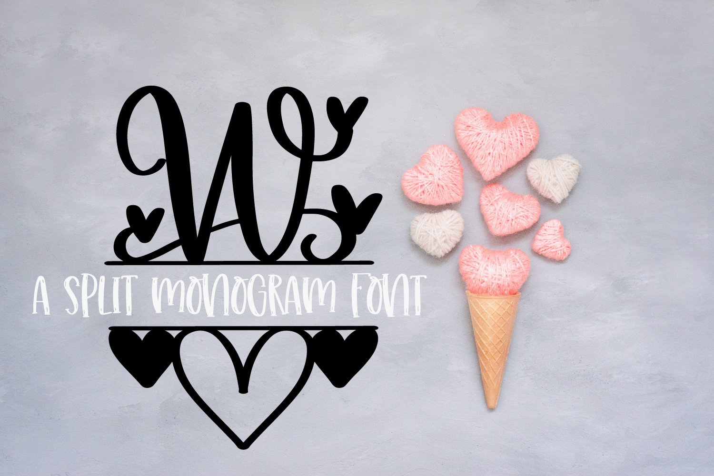 A Heart Split Monogram Font example image 3