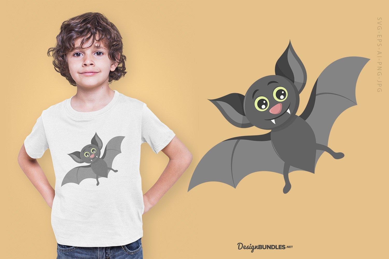 Flying Bat illustration example image 1