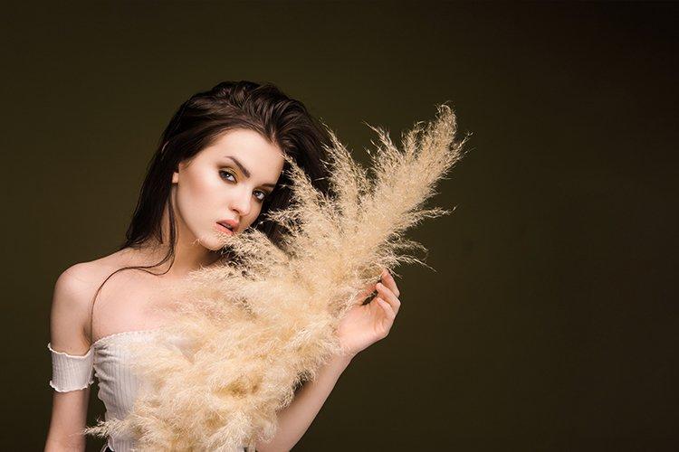 Woman portrait.Fashionable beautiful eye makeup. example image 1