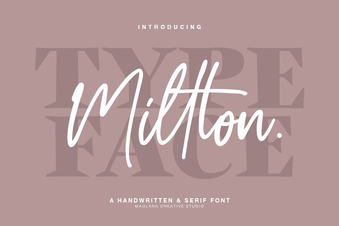 Millton - Font Duo example image 1
