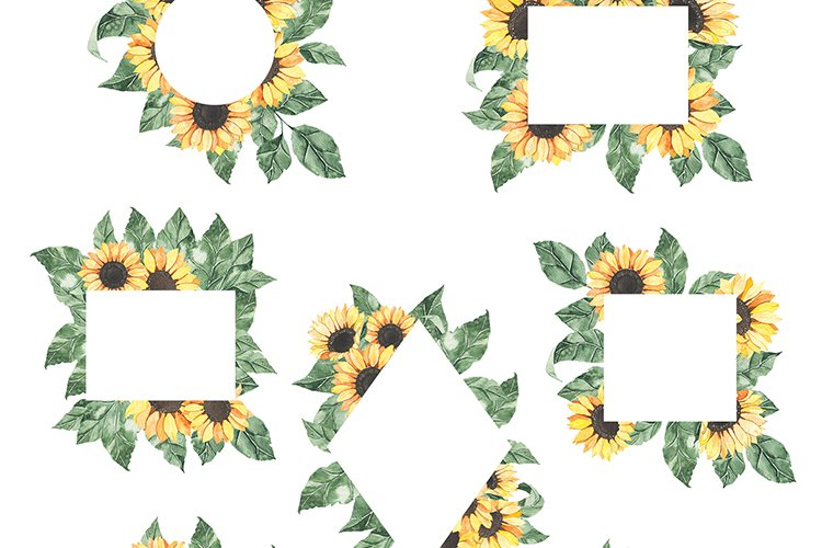 Watercolor Sunflowers collection example image 10