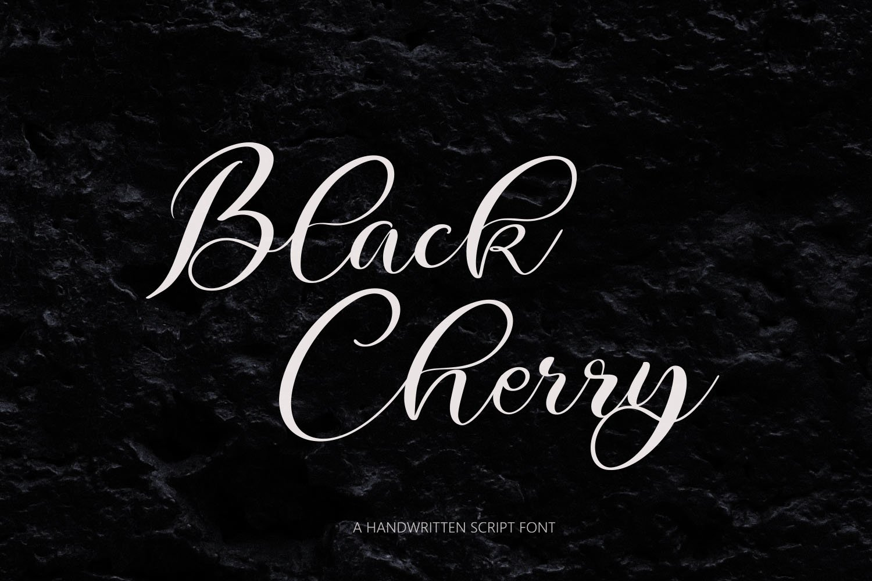 Black Cherry Script Font example image 1