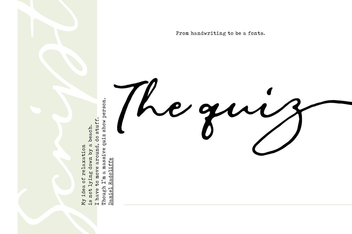 Natural & Script Fonts Bundles Vol. 01 example image 12