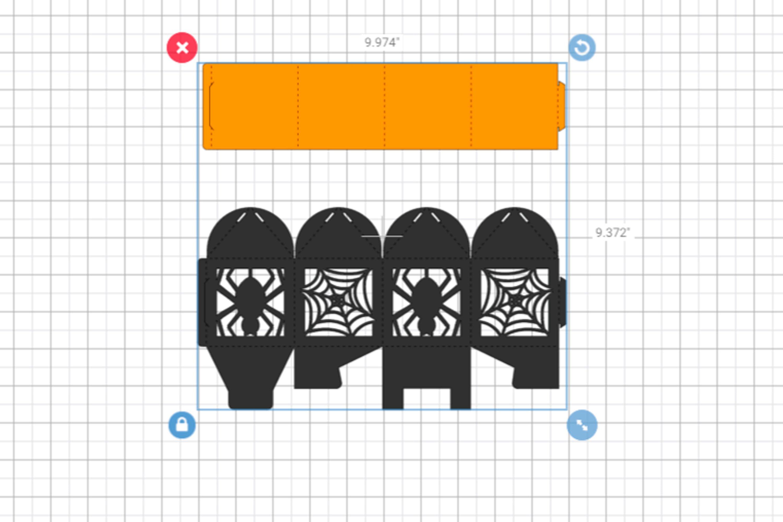 Halloween favor box template, Wedding favor box svg example image 3