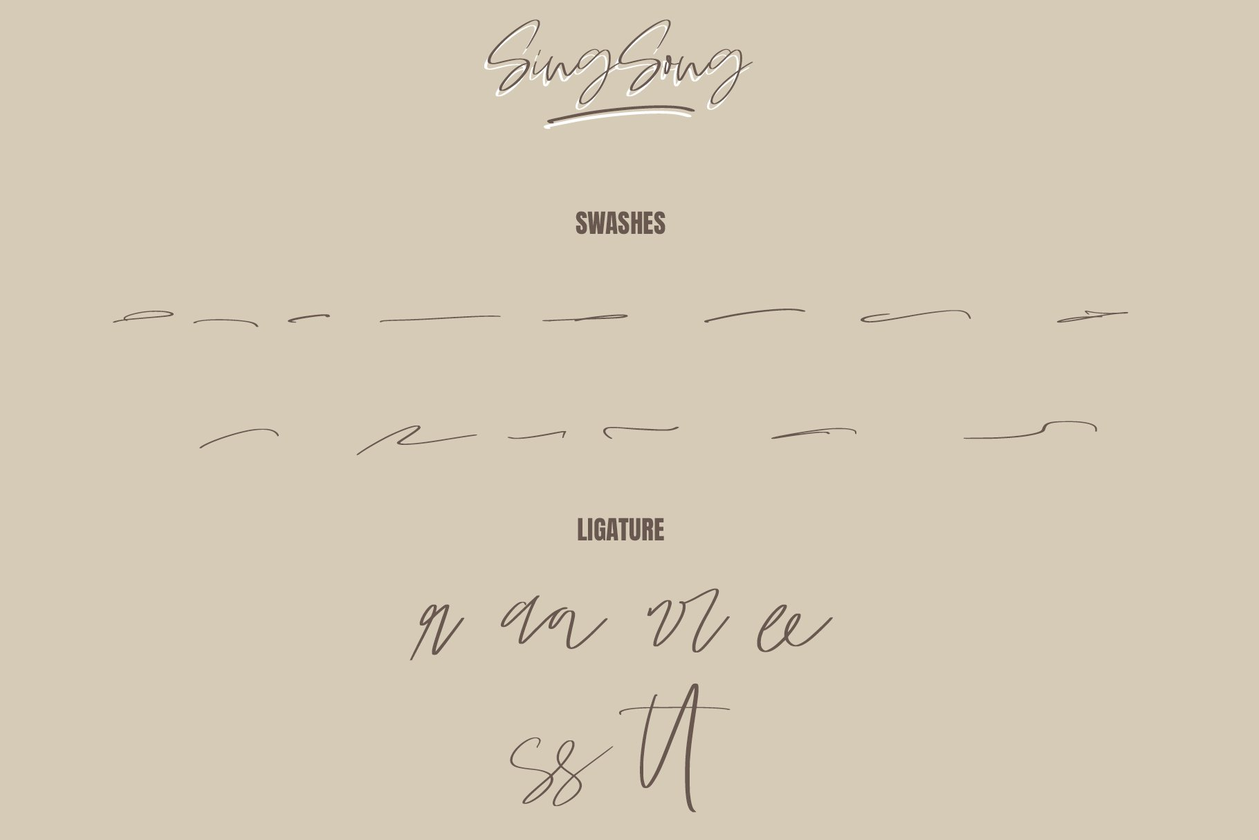 Sing Song | Handwritten Script Font example image 3