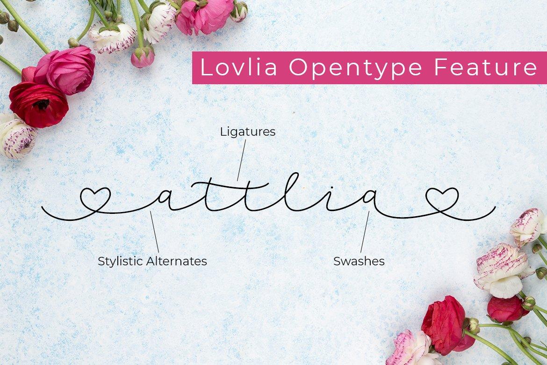 Lovlia | Script and Monogram Font Duo example image 6