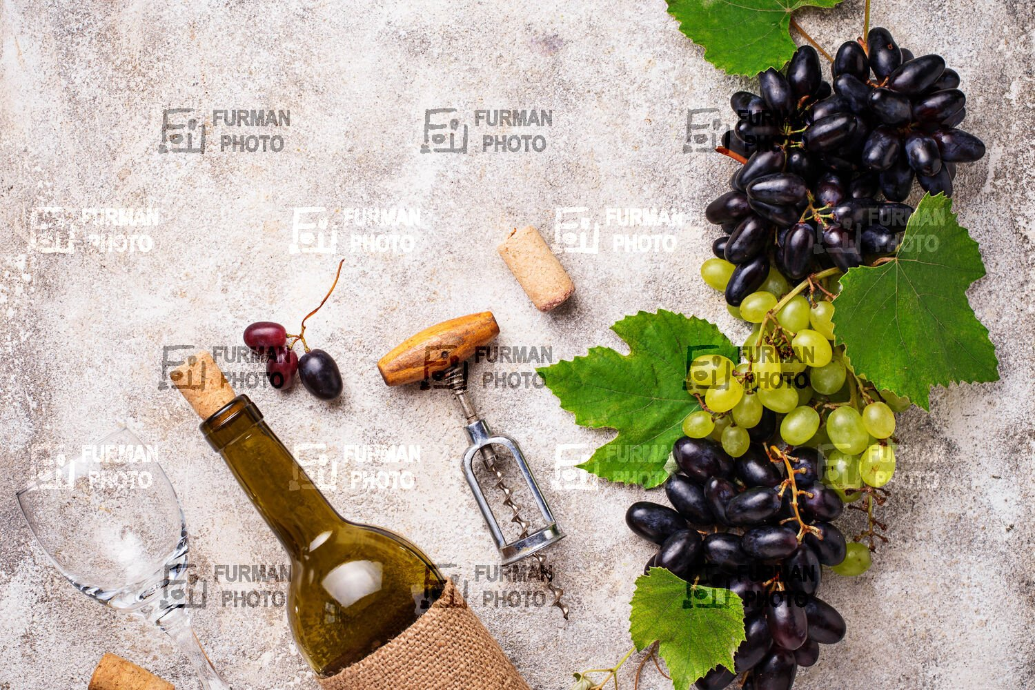 Grape, wine and vintage corkscrew example image 1