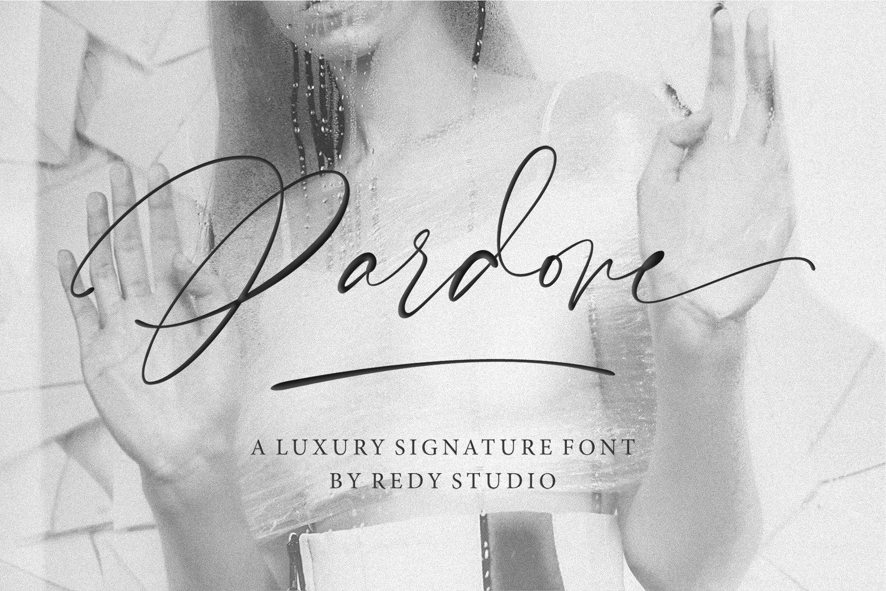 Pardone   Luxury Signature Font example image 1