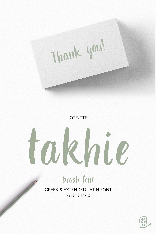 Takhie Pro | Multilingual Brush Font example image 8