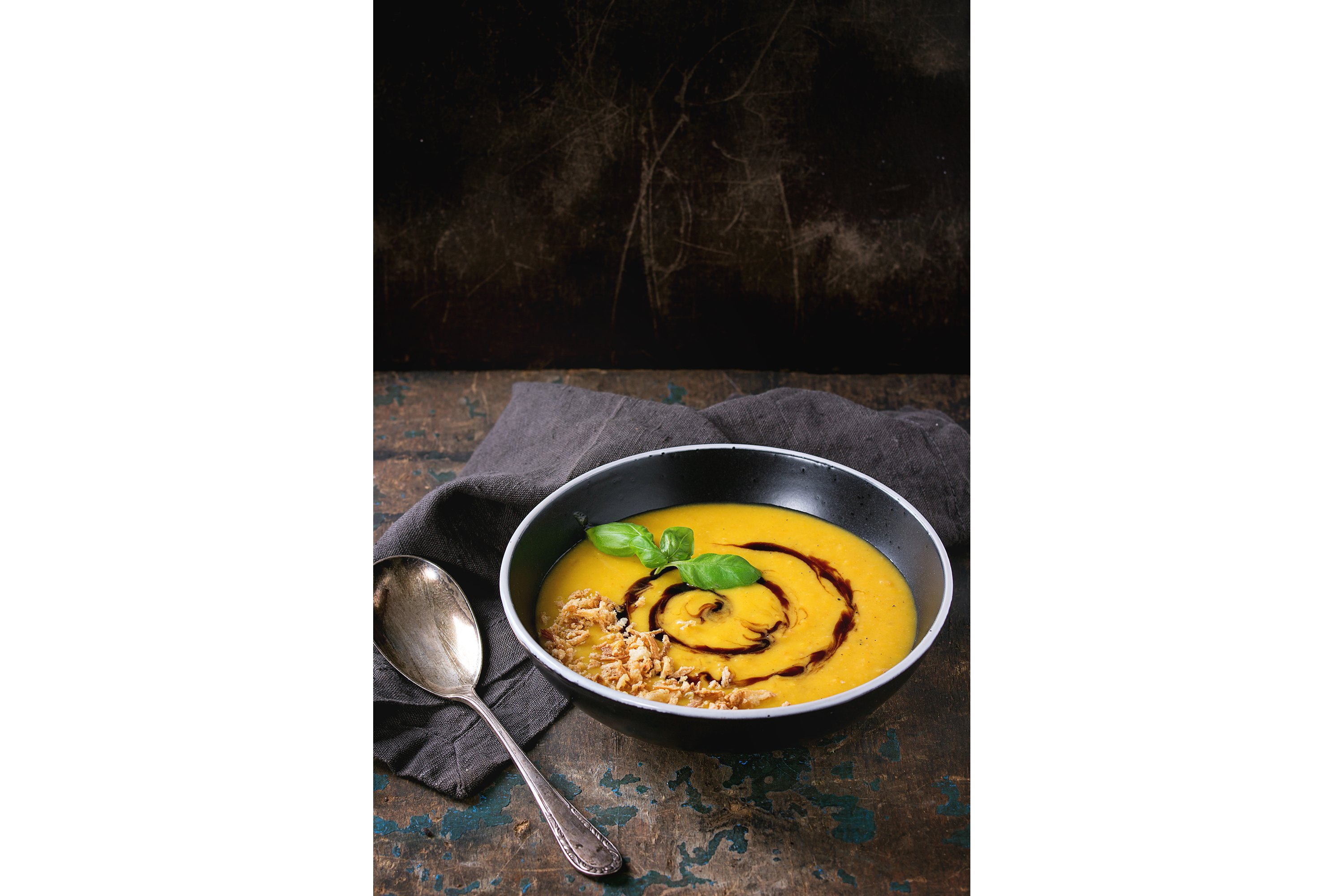 Pumpkin and sweet potato soup example image 1