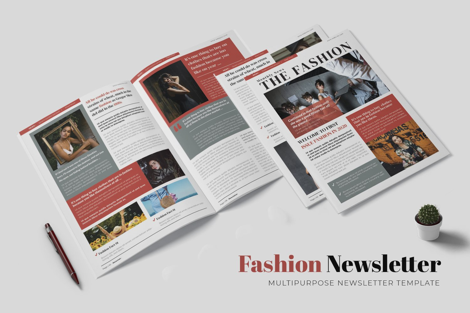 Fashion News Newsletter Template example image 1