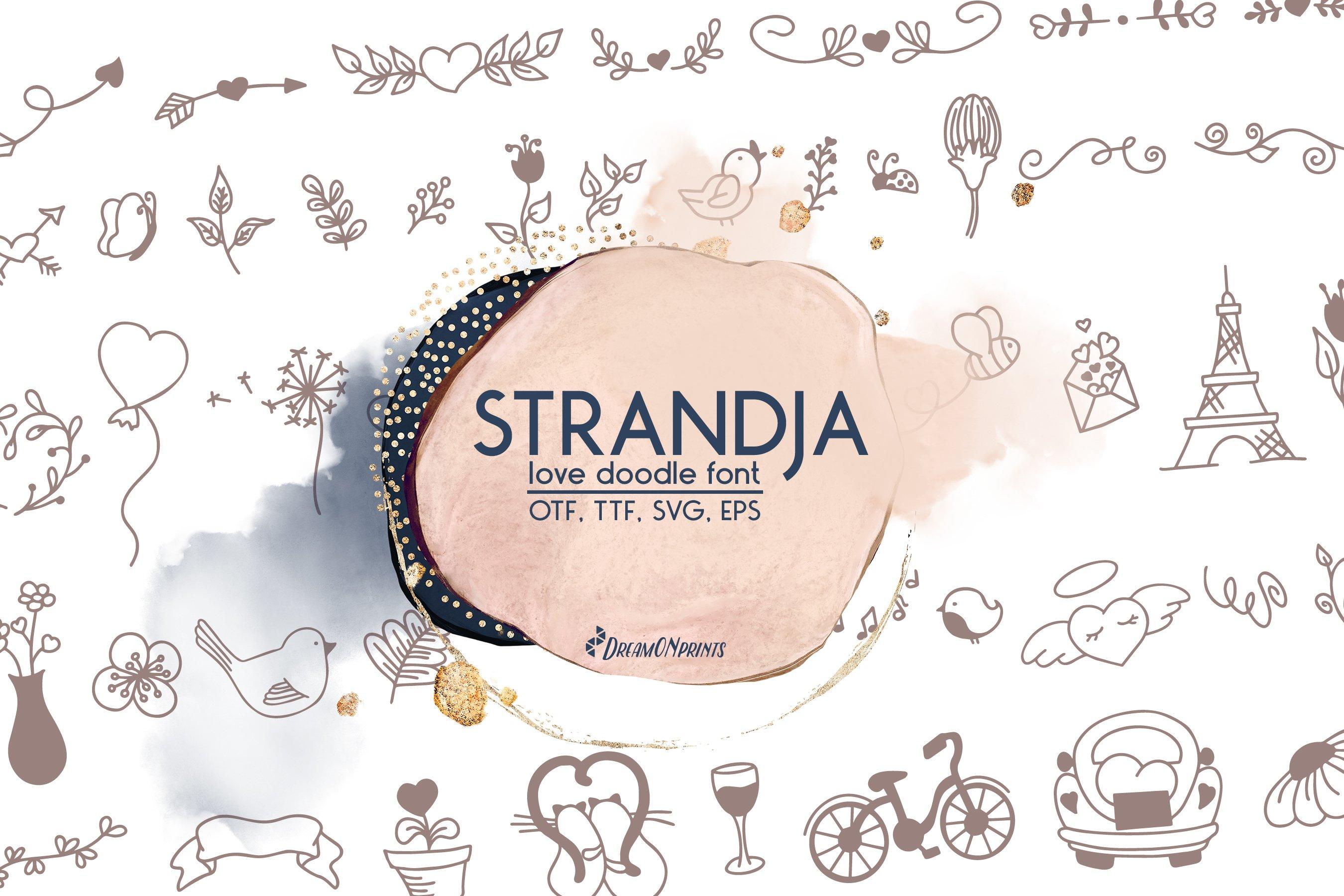 Strandja - Love Doodle Font example image 1