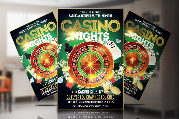 Casino Night Flyer 2 example image 1