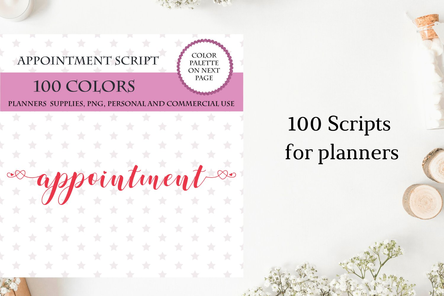 100 Appointment font clipart, Appointment sticker clipart example image 2