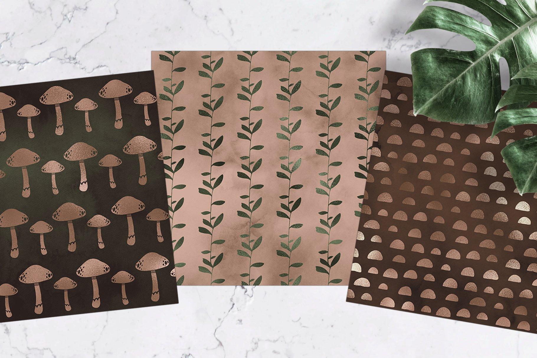 Woodlands Digital Paper Pack example image 2