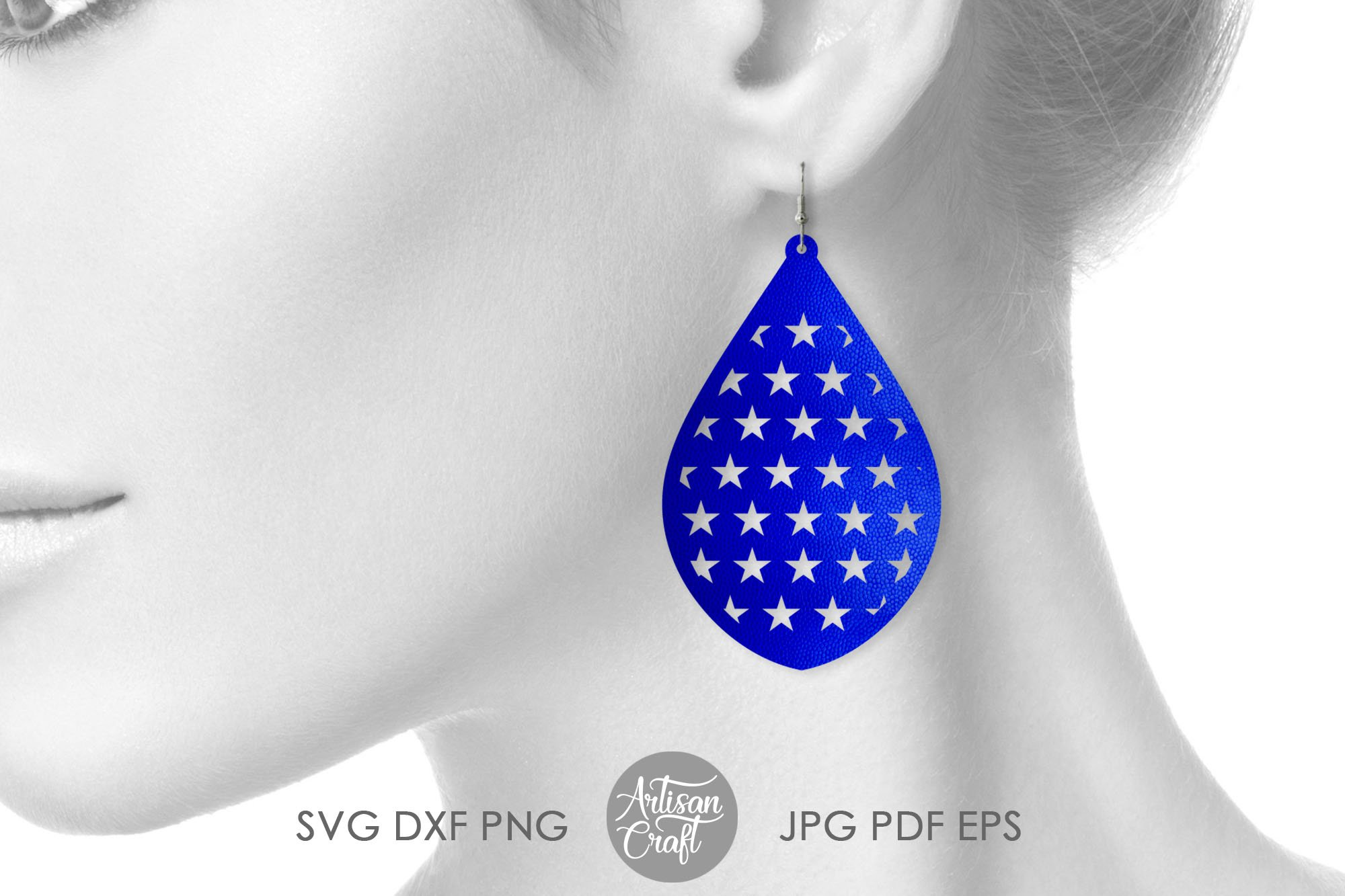 American flag earrings, Fourth of July earrings, svg example image 6