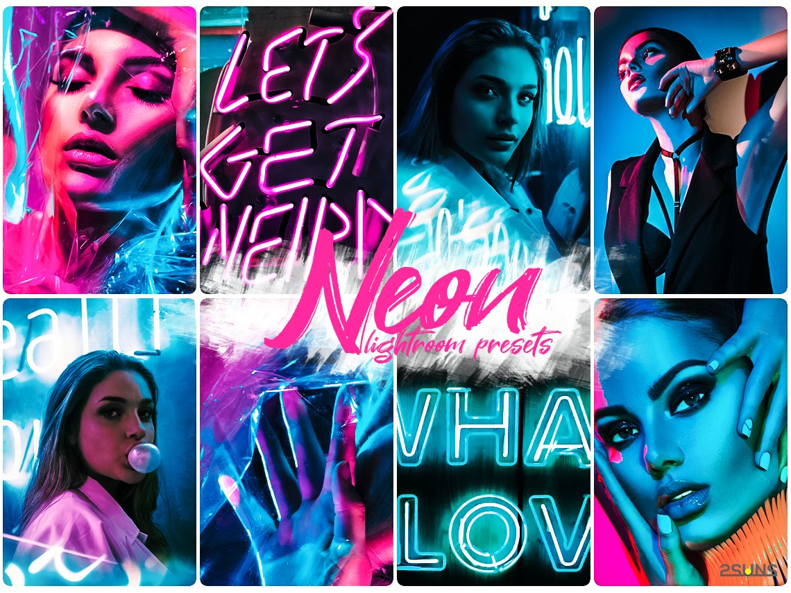 Neon preset lightroom mobile pc instagram effects filter example image 4