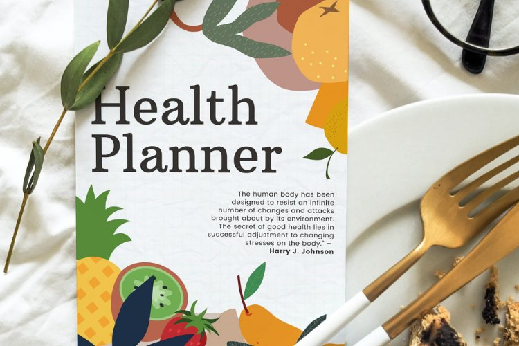 HEALTH PLANNER CUSTOMIZABLE CANVA TEMPLATE example image 4