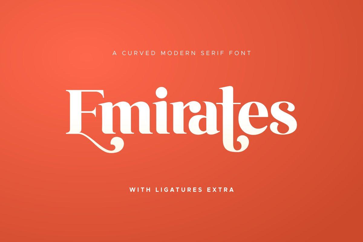 Emirates - Beautiful Curved Font example image 1