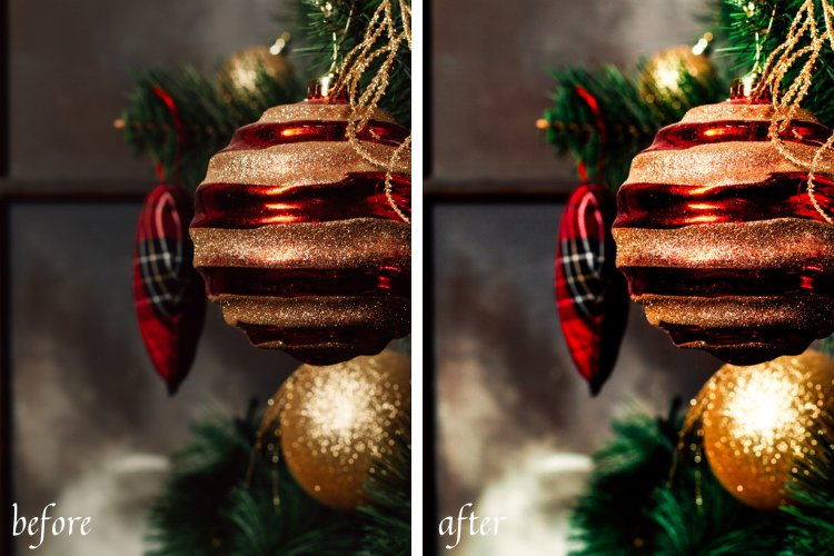 Moody Christmas Mobile & Desktop Lightroom Presets example image 6