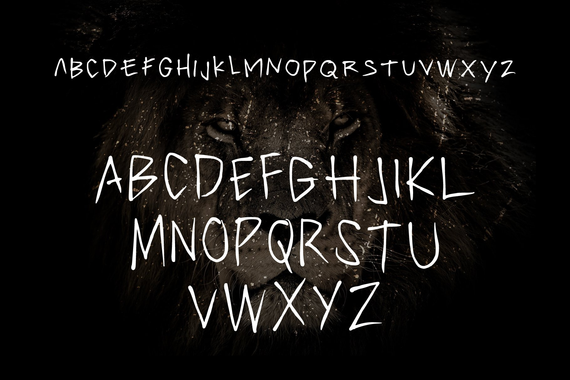 PRIMAL - handwritten brush font example image 3