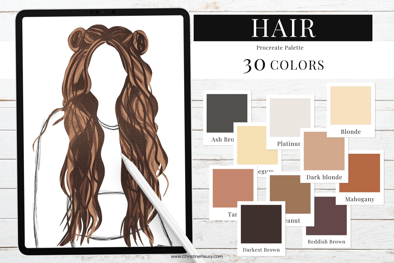 Procreate Color Palette - Hair color example image 1