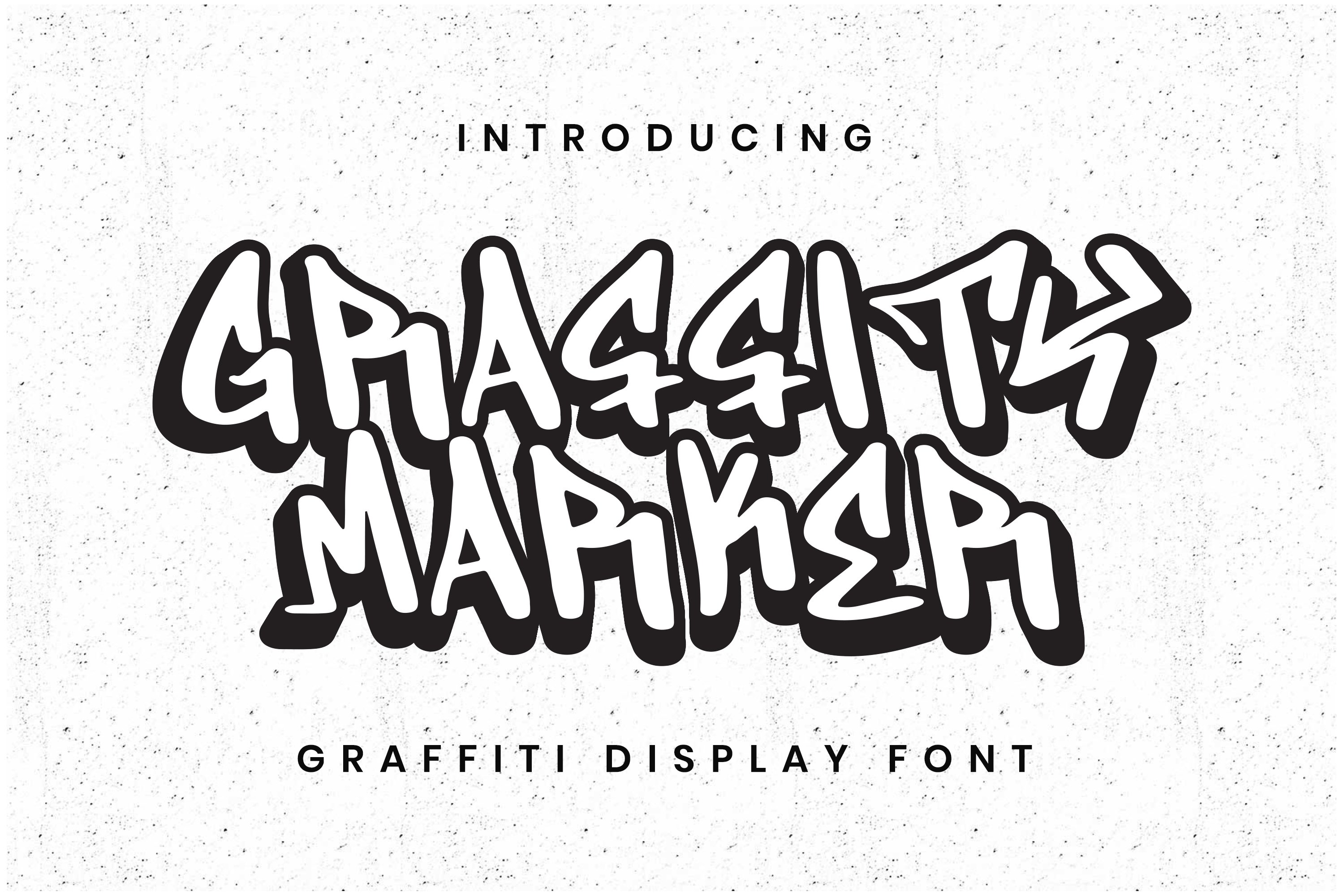 Graffity Marker Font example image 1