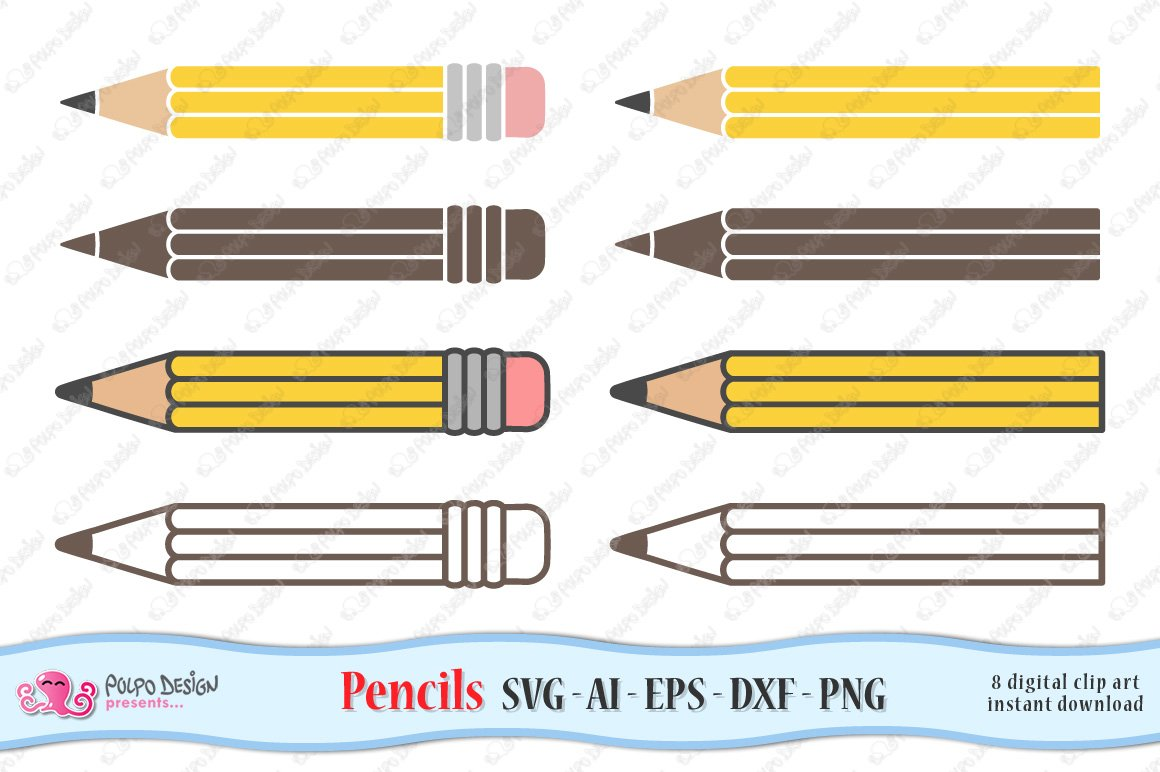 Pencil SVG, Eps, Dxf, Ai and Png example image 3