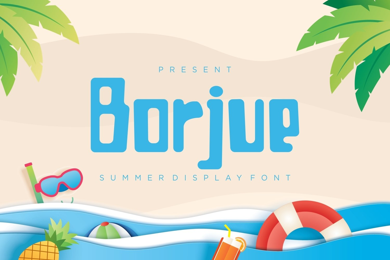 Borjue - Summer Display Font example image 1