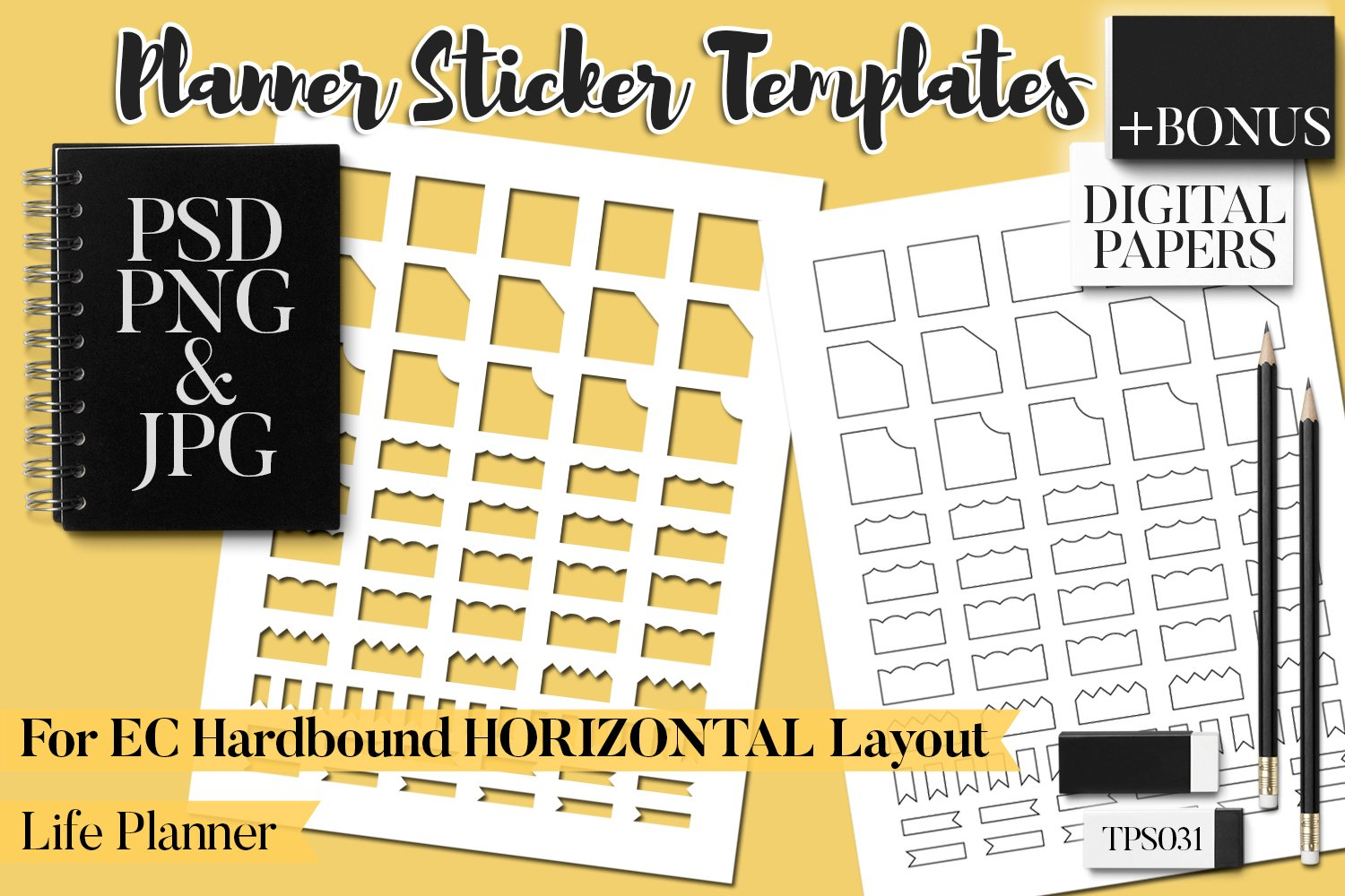 Planner Stickers Templates - Bundle Vol. 11 example image 4