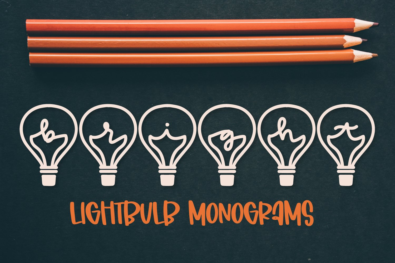 Lightbulb Monogram - A-Z Letters example image 1