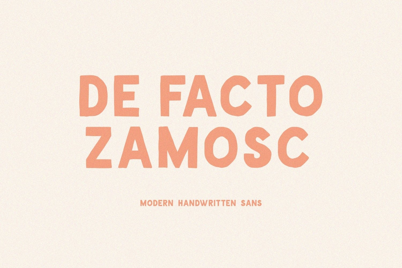 De Facto Zamosc Font example image 1