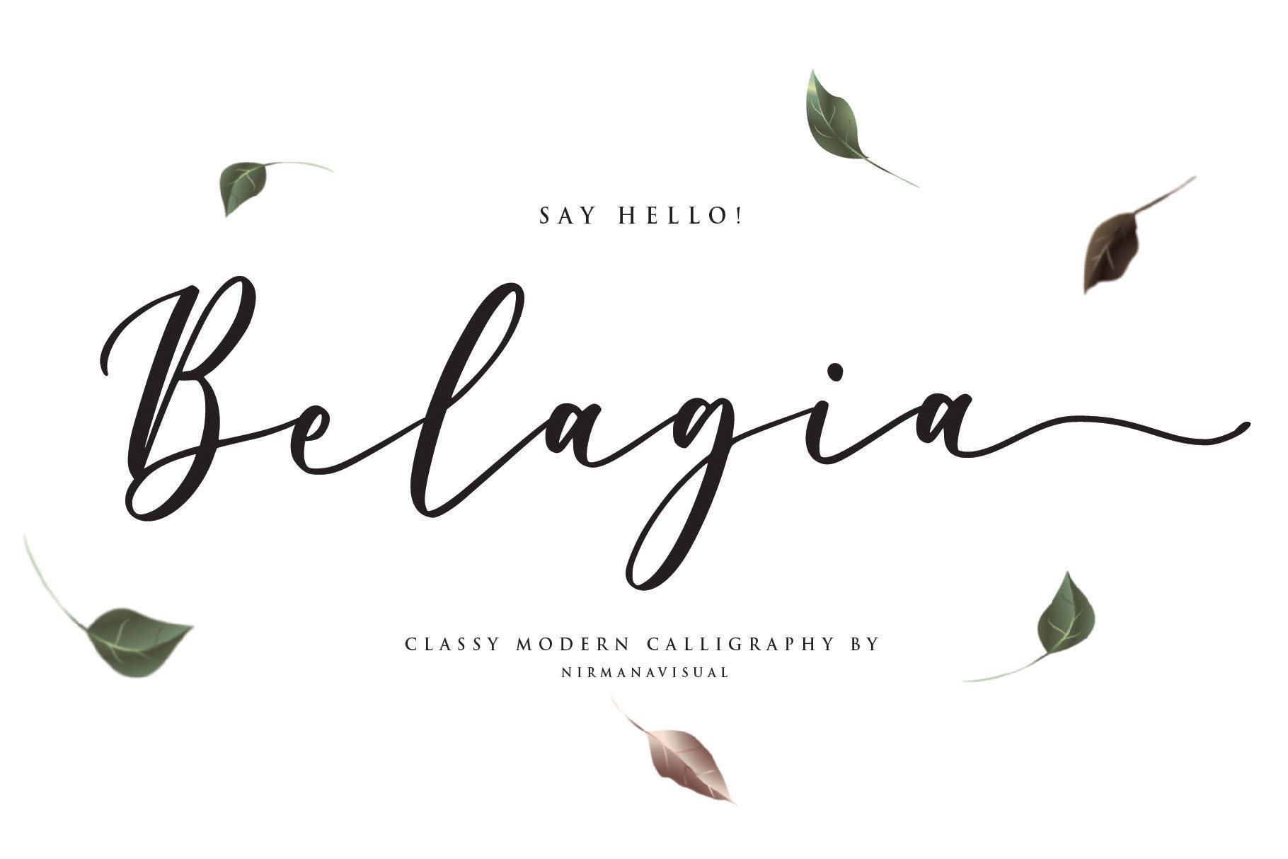 Belagia - Classy Calligraphy example image 1