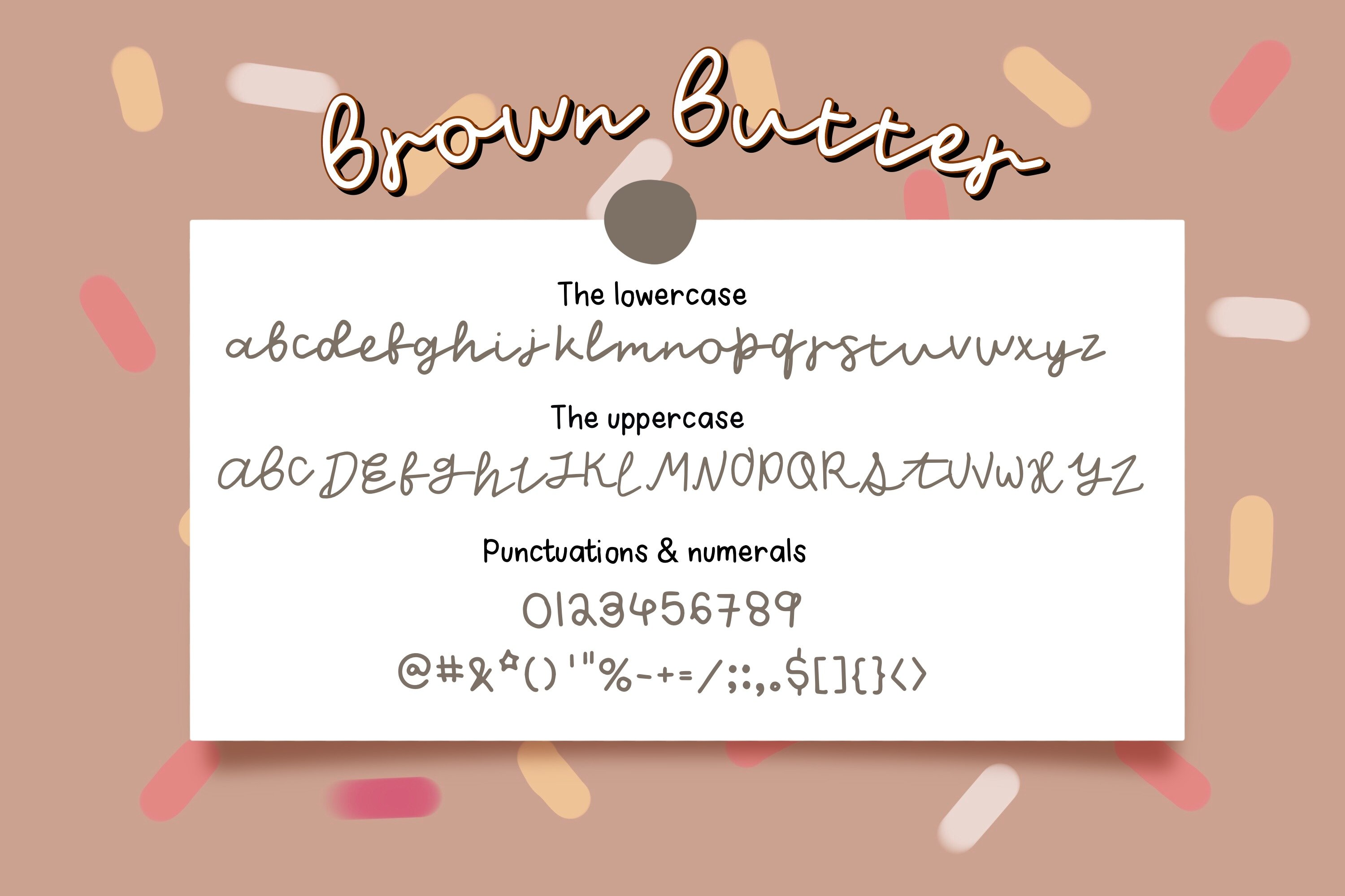Brown Butter -Font example image 5