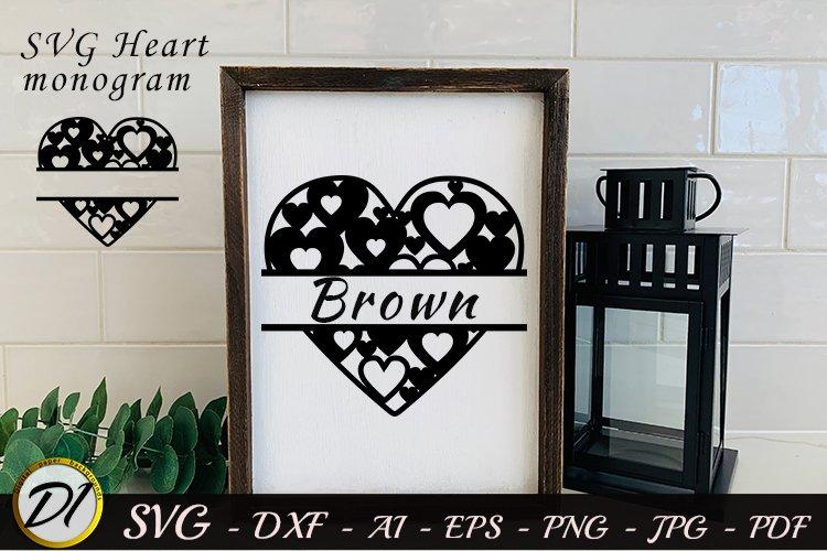 Download Monogram Svg Valentines Monogram Svg Heart Monogram Svg 1121543 Cut Files Design Bundles