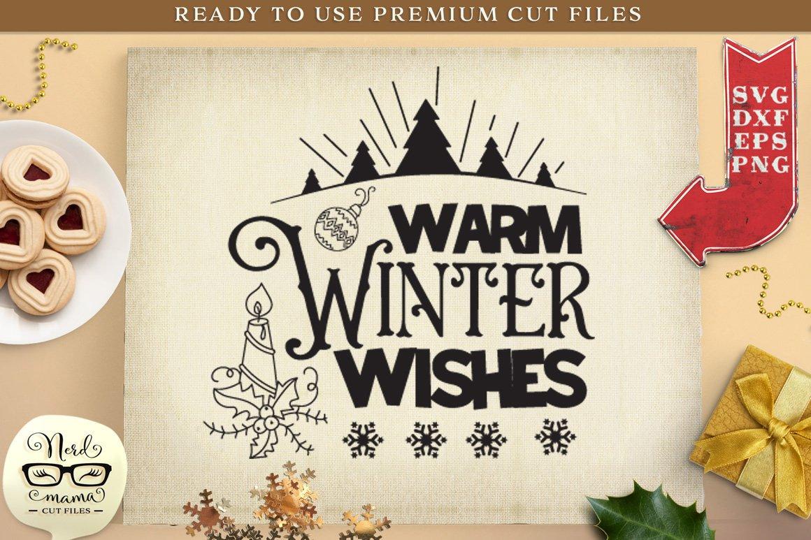 Warm Winter Wishes Svg Cut File 380783 Cut Files Design Bundles