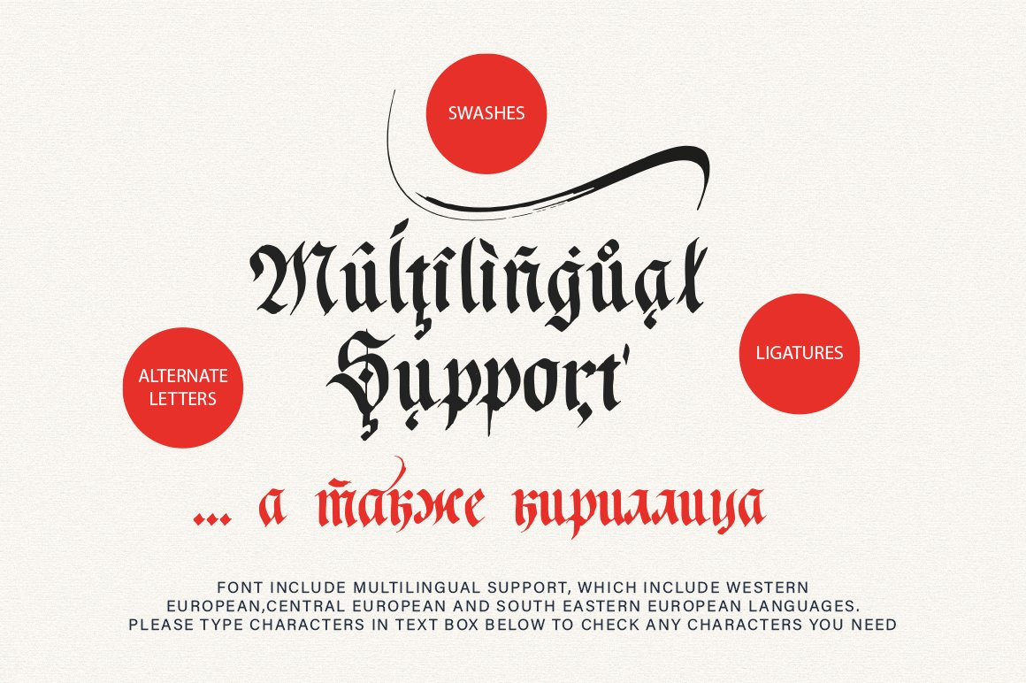 Just Imagine. Blackletter Font. example image 14