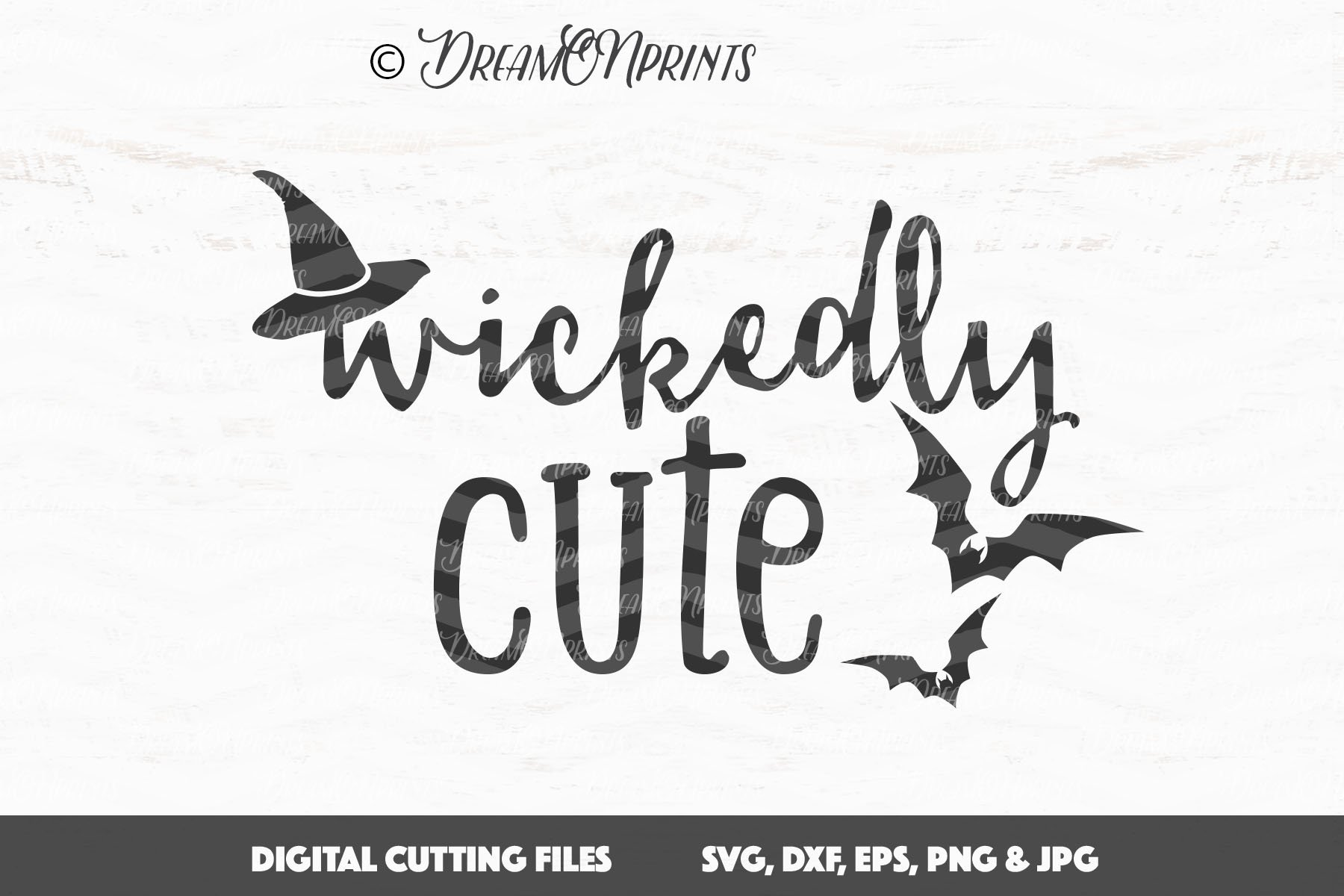 Halloween SVG Cutting Files - Wickedly Cute example image 2